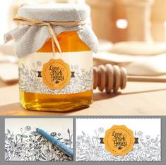 honey label for a family farm Mehr