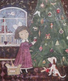 Сообщество иллюстраторов | Иллюстрация Рождественская елка.