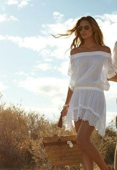Perfect dress for a summer night party on the beach or just hanging out with friends at the beach.