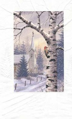 The Sanctuary, a Holiday card by Kathy Glasnap of Door County, Wisconsin