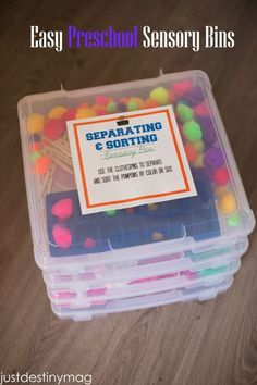 Fun and Easy Sensory Tubs for Preschoolers Michaels Craft Store