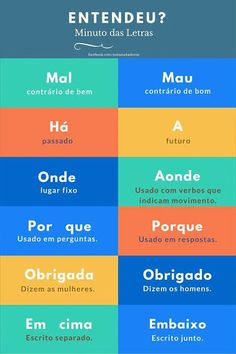 Ideas Memes Em Portugues Escola For 2019 Portuguese Grammar, Portuguese Lessons, Portuguese Language, Learn Brazilian Portuguese, English Tips, Learn A New Language, Study Notes, Student Life, Study Tips