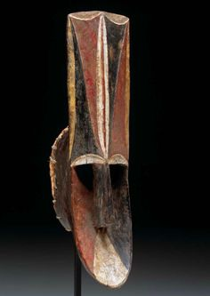 Africa   Face mask (igri) from the Igbo people (Ada group) of Nigeria   Wood, pigment and raffia   Mid 20th century