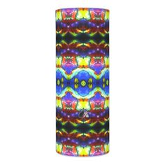 """Innerfeelians KCFX Flameless Candle. 30% OFF CANDLES- Use CODE: DIDYOUKNOW17 til Midnite 3-11-17 11:59pmPT. Similar to the currently trending """"Ikat"""" style, this design blends abstract art, technology and psychedelia in a completely unique fashion. The origination image is from my Kinetic Collage """"Sweet Dreams"""" series of light show photos. Trippy. Over 3000 products at my Zazzle online store. Open 24/7 World wide! http://www.zazzle.com/greg_lloyd_arts*?rf=238198296477835081"""