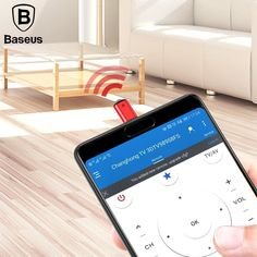 Baseus IR Remote Control for iPhone X 8 7 Samsung Type C Jack Universal Smart TV Controller Adapter for Air Conditioning Tv Remote Controls, Samsung S9, Home Tv, Natural Disasters, Smart Tv, Iphone, Type, Electronics Gadgets, Tech Gadgets