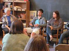 Tamarack alumni students discussing their time at Tamarack and Waldorf education at our Alumni Panel May 12, 2014.