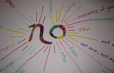 expressive Art therapy activities Boundaries- the art of saying no. Interesting choosing this one for positive psychology but somehow I think it pertains. Art Therapy Projects, Therapy Tools, Music Therapy, Play Therapy, Therapy Ideas, Speech Therapy, Activities For Teens, Counseling Activities, Art Therapy Activities