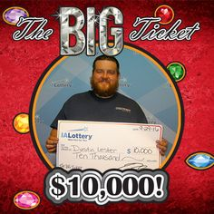 "Congratulations to Dustin Lester of #Newton. He purchased ""The BIG Ticket"" scratch game at Casey's General Store, 1006 N. 19th Ave. E in Newton and won a $10,000 prize! #WooHooForYou"
