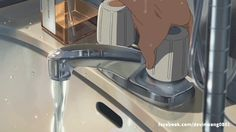Aesthetic Space, Aesthetic Drawing, Aesthetic Images, Aesthetic Anime, Gif Lindos, Car Animation, Garden Of Words, Aesthetic Desktop Wallpaper, Kimi No Na Wa
