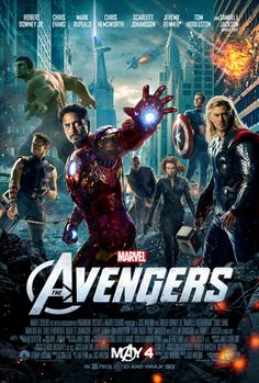 New poster for the Avengers movie. Not really groundbreaking in terms of poster design, but I love the little details (Stark Tower in the background!) and the stylization (it almost looks painted).