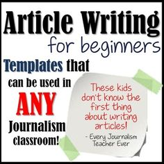 Newspaper needs met! Article writing made easy!Does your newspaper have new journalists on staff? This article writing template pack helps your new (or old and forgetful) newspaper staff members create a cohesive and organized article for class or the school newspaper!