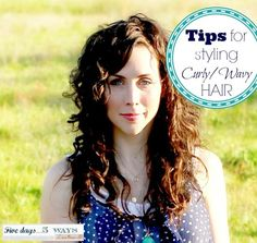 {EASY} Tips for styling curly/wavy hair! @Abbie Barnes @ 5days5ways