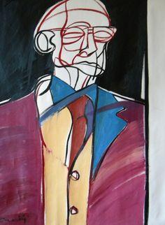 Ritratto di Carlo Mattioli. Portrait of Carlo Mattioli. 1995. Gabriele Donelli