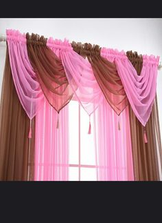 Curtains for the Bedroom Valance Solid Colors – Inspirational Clothing and Accessories Bedroom Valances, Swag Curtains, Curtains And Draperies, Home Curtains, Red Living Room Decor, Living Room Decor Curtains, Bedroom Decor, Window Curtain Designs, Rideaux Design