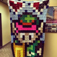 Link Zelda crochet pixel blanket by ohjadee