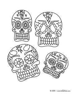 Dia de los muertos-- printable coloring pages