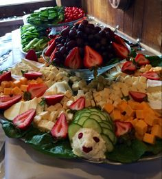 Small details make all the difference in a fresh fruit, veggie and cheese display at the Heritage Resort and Conference Center, Southbury, CT!