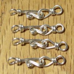 Love the security this would add to your design-Making your own wire wrapped hook and eye clasp