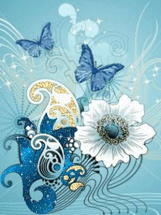 Blue animated butterflies Graphic plus many other high quality Graphics for your Facebook profile at KewlGraphics.com.