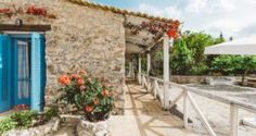 exterior of the Traditional villa for 8 in North Zakynthos, Greece, near The Peligoni Club with a pool
