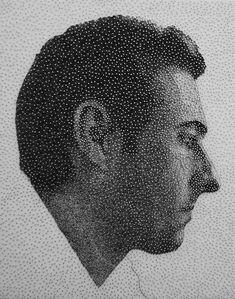 Astounding Photorealistic Thread and Nail Portraits - kumi yamashita