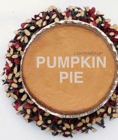 lightened-up pumpkin pie #HealthierHolidays