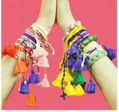 Tassel Stack Bracelets (arm candy)
