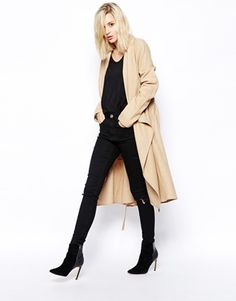 This beautiful duster coat is today's crush. The self-tie waist belt is just one of the details I love about it! Find it here: http://asos.to/1k9gyO3