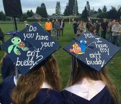 """"""" Top Easy Ideas """" View of Grad Cap Best Friend Grad Caps. Looking for Nemo. Disney Graduation Cap, Funny Graduation Caps, Graduation Cap Designs, Graduation Cap Decoration, Graduation Diy, Graduation Pictures, Funny Grad Cap Ideas, Senior Pictures, High School Graduation"""