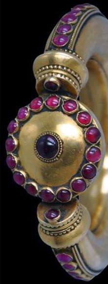 Bracelet - Or et Rubis - 19ème Siècle