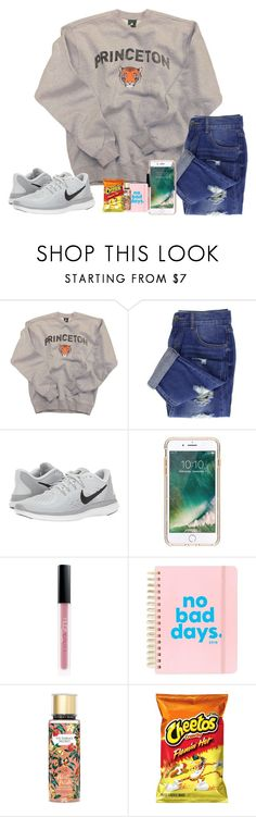 """""""~ guess who was georgie from IT last night 💁🏼 ~"""" by southern-preppster ❤ liked on Polyvore featuring NIKE, Griffin, Huda Beauty, ban.do and Victoria's Secret"""
