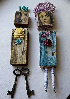 Lemon and Olive~ Altered Not-an-Altoid Tin (categories: Uncategorized) 02 MAY - Assemblage Art Paper Dolls, Art Dolls, Dolls Dolls, Dollhouse Dolls, Barbie Doll, Domino Art, Tin Art, Found Object Art, Found Art