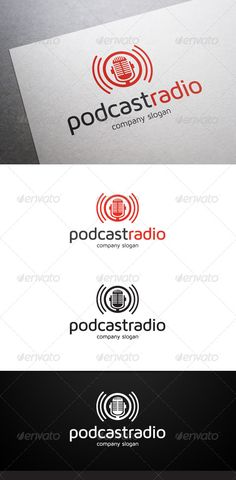Buy Podcast Radio Logo by flatos on GraphicRiver. Description Podcast Radio Logo is a multipurpose logo. This logo can be used by online radio, etc. Radio Logo, Radios, Dj Logo, Radio Design, Thought Experiment, Music Logo, Company Slogans, Design Research, Logos