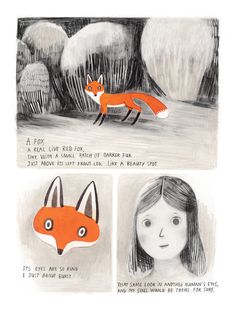 Jane, the Fox and Me: A Gorgeous Graphic Novel about the Travails of Youth Inspired by Charlotte Brönte, by Fanny Britt, illustrated by Isabelle Arsenault Fuchs Illustration, Children's Book Illustration, Book Illustrations, John Berger, Graphic Novel Art, Humor Grafico, Art Graphique, Red Fox, Art Plastique