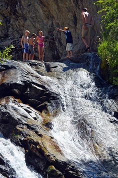 SLIDING ROCK FALLS in Alpine