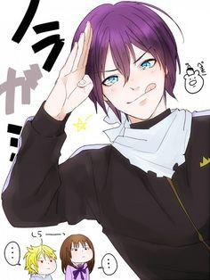 Yato is here Noragami Anime, Yato And Hiyori, Yatori, Good Anime Series, Anime Kiss, Manga Boy, Deities, I Fall In Love, Manhwa