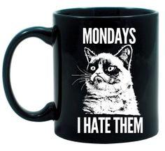 Grumpy Cat Monday Mug - http://1uptreasures.com
