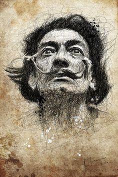 Salvador Dali #Illustration by Patrice Murciano