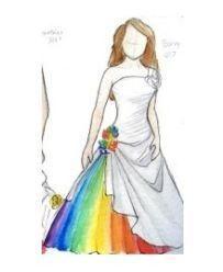 Rainbow Wedding Dress Concept - http://casualweddingdresses.net/rainbow-wedding-dress-the-ideal-somewhere-over-the-rainbow-wedding-dream/