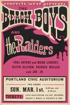 Beach Boys and The Raiders, Portland Civic Auditorium (March 1, 1970)