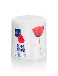 Centenary of WWi remembrance candle