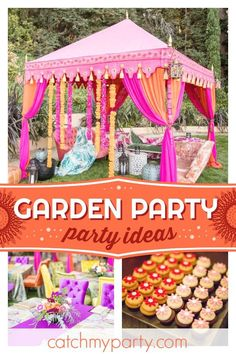 It0s the Summer of Love at this 50th summer garden party! The decorations are amazing!! See more party ideas and share yours at CatchMyParty.com #catchmyparty #partyideas #50thbirthdayparty #summeroflove #70'sparty #summerparty