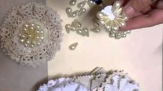 shabby chic pearl flower tutorial - jennings644 - YouTube