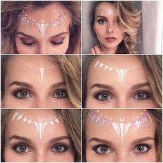 Festival make up tutorial: white fairy love trust and fairydust you need wh Makeup Inspo, Makeup Art, Makeup Inspiration, Makeup Ideas, Sfx Makeup, Festival Makeup Glitter, Glitter Makeup, Festival Make Up, White Face Paint
