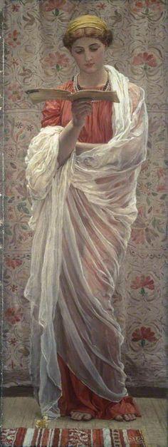 A Reader by Albert Joseph Moore (circa 1877) Manchester Art Gallery, Manchester, England
