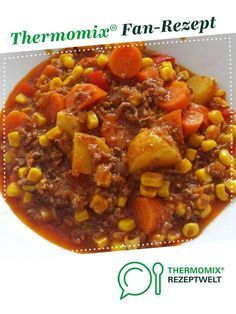 Minced meat stew with potatoes and vegetables from Katthree. A Thermomix ® rec . - Minced meat stew with potatoes and vegetables from Katthree. A Thermomix ® recipe from the main co -