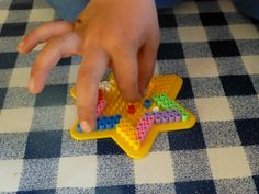 Month of Firsts linky including making a Hama bead star - Bubbablueandme