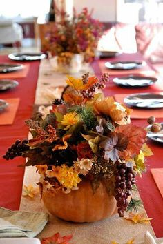 garden fresh table decor