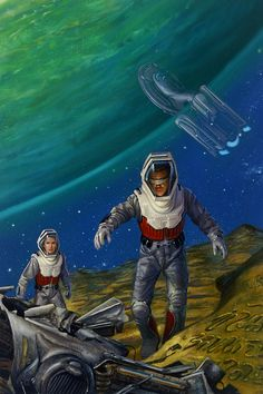 DONATO GIANCOLA - art for The Haunted Starship by Brad & Kathi Ferguson - 1997 Pocket Books
