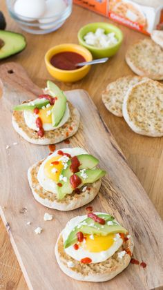 Spicy Sunrise: Make your morning shine with a sunny-side up egg, savory Feta cheese, avocado and spicy Sriracha atop a toasted Thomas' English Muffin.